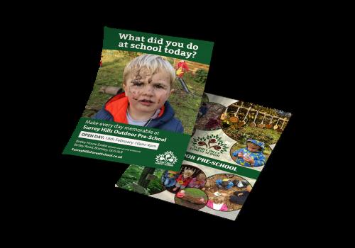 Surrey Hills Forest School Flyer